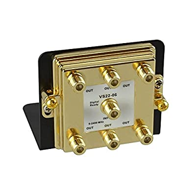 CE TECH 6-Way 2.4 GHz Video Splitter