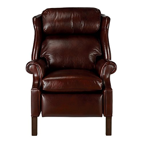 Chocolate Low Leg Recliner - Ethan Allen Townsend Leather Recliner, Old English/Chocolate