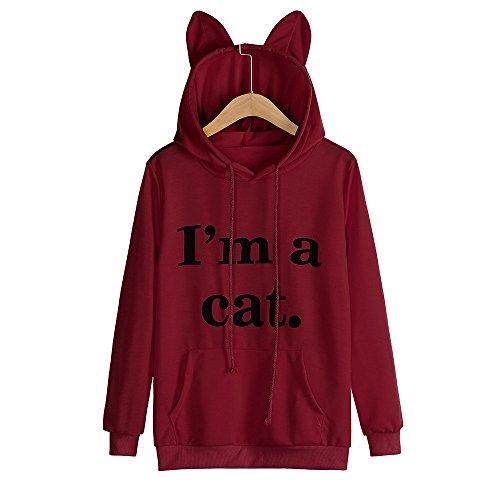 Amazon.com: Sweatshirt,Toimoth Womens Cat Long Sleeve Hoodie Sweatshirt Hooded Pullover Tops Blouse: Clothing