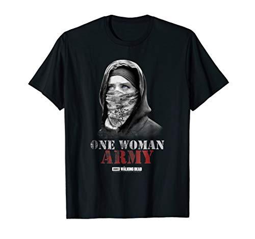 The Walking Dead One Woman Army T-Shirt (Walking Mens Tee)