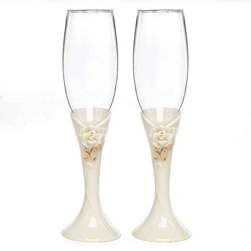50th Anniversary Champagne Flutes - 9