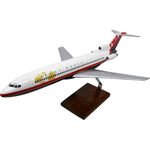 Boeing 727-200 TWA (Trans World Airlines) Large Mahogany Model
