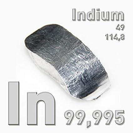 Mehr als 10 kg hochreines Indium 99,995/% 10 Barren mit mehr als 1 kg Gewicht