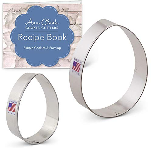 Easter Egg Cookie Cutter Set with Recipe Book - 2 piece - 3