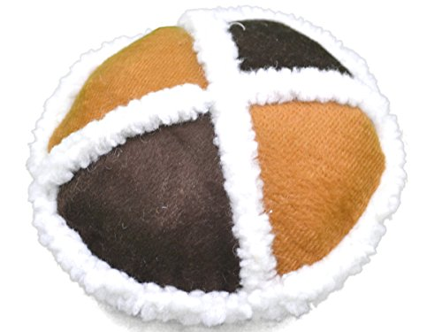 Amazing Pet Products 2-Tone Sherpa Dog Toy, 3-Panel Disk