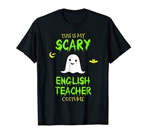 Scary English Teacher Costume Halloween T-Shirt