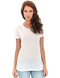 Women's T-shirt Triblend Old School Gym Tee Short Sleeve Shirt Royal Apparel