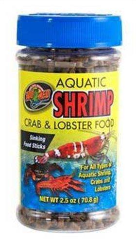 Zoo Med Laboratories SZMZM18 Aquatic Shrimp Crab Lobster Food, 2.5-Ounce