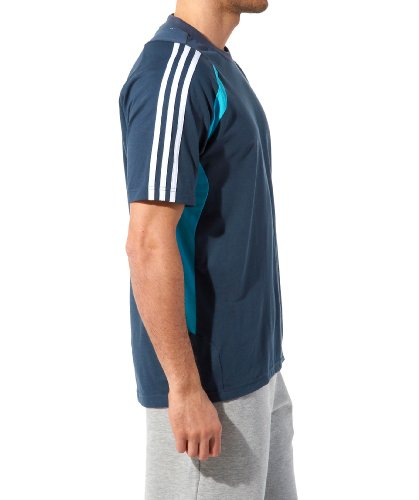 Adidas Climalite Sport Crew–Maglietta da uomo, Uomo Donna, grau - blau - weiß, S