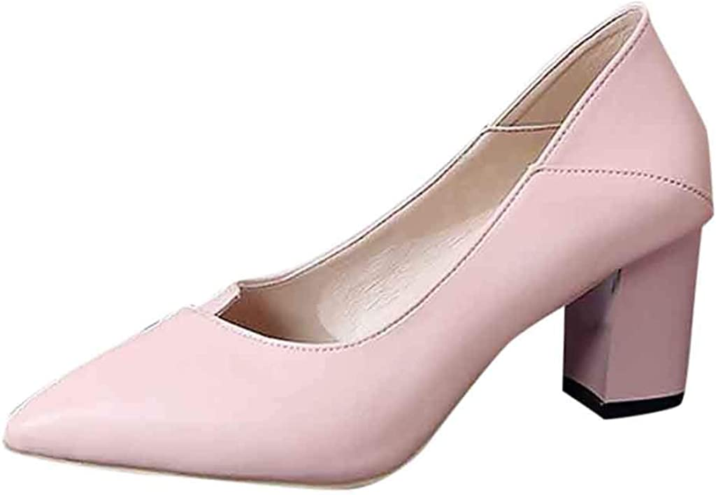 HULKAY High Heel Pointed Shoes for Women Womens Classic Fashion Pointed Toe High Heel Shoes Ladies Business Shoes