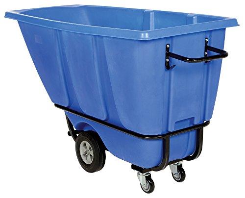 Vestil TDT-50-HD-BLUE Heavy Duty Tilt Truck, 1/2 cu. yd, Blue (Duty Bin Hopper Heavy)