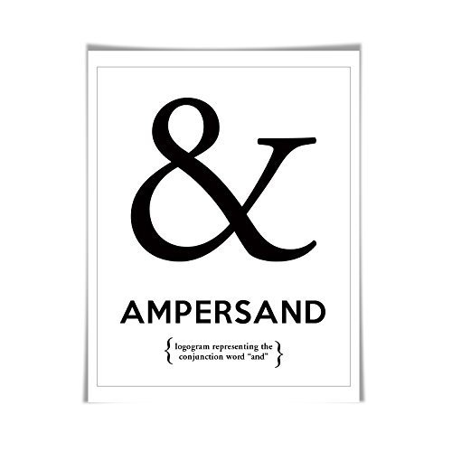Ampersand Punctuation Print. 60 Colours/5 Sizes. Grammar Poster. Classroom Art. English Teacher Gift