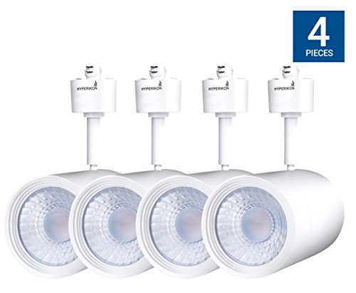 Hyperikon Track Light Head, H-Type Integrated LED Track Head, 17.5W (85W Equivalent), 4000K (Daylight Glow), 1200 Lumens, 40° Beam, CRI90+ Energy Star – for Accent Task Wall Art Exhibition (4 Pack)