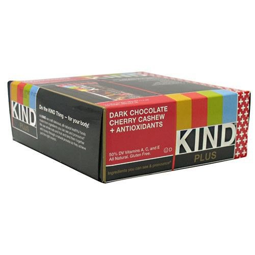 Kind Plus, Dark Chocolate Cherry Cashew + Antioxidants
