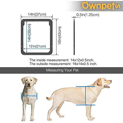 OWNPETS Dog Screen Door, Lockable Pet Screen Door, Magnetic Self-Closing Screen Door with Locking Function, Sturdy Screen Door for Dog Cat by OWNPETS (Image #5)