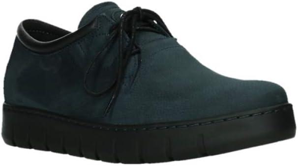 Wolky Comfort Veterschoenen Vic 11800 blauw nubuck