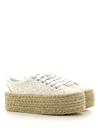 Sneaker baja JC Play by Jeffrey Campbell Zomg en purpurina blanca Blanco