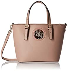Rodeo mini tote in smooth pu with detachable crossbody strap