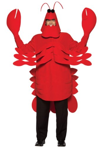 Rasta Imposta Lightweight Lobster Costume, Red, One Size -