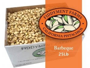 Fiddyment Farms 25 Lbs Barbecue In-shell Pistachios by Fiddyment Farms Gourmet Pistachios