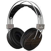 Langsdom Over-ear Wood headphone, Premium Genuine Headsets for Men&Women,Stereo Natural Audio Surround Sound Headphones for DJ ( VA800 Ebony)