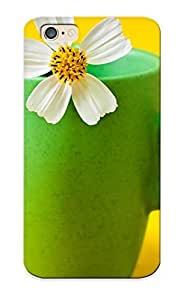 InRXvVk4015fhuky White Cosmos Flower In A Cup Fashion Tpu Case Cover For Iphone 6, Series