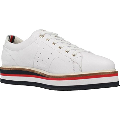Tommy Hilfiger Sport Shoes Para Mujeres, Color Blanco, Marca, Moda Sport Shoes Para Mujeres Fw0fw02480 Blanco