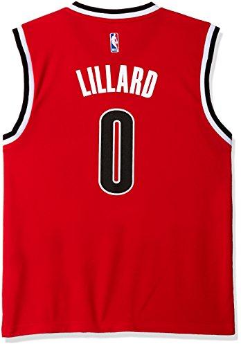 NBA Portland Trail Blazers Damian Lillard #0 Men's Replica Jersey, Medium, Red