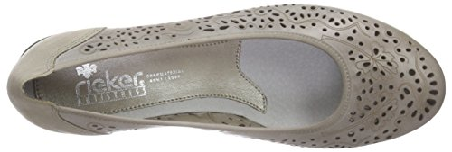 Rieker 43255 Women Closed-Toe, Women's Closed Pumps Grey - Grau (Elefant / 42)
