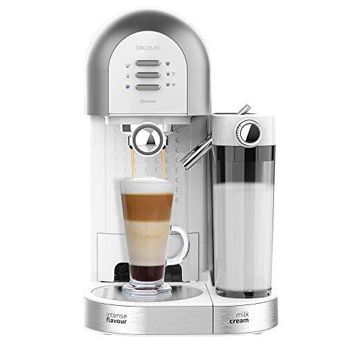 Cecotec Cafetera Semiautomática Power Instant-ccino 20 Chic Serie Bianca. para café molido y en cápsulas, 20 Bares…