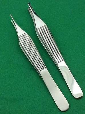 SET OF 2 ASSORTED ADSON DRESSING + ADSON BROWN FORCEPS 4.75