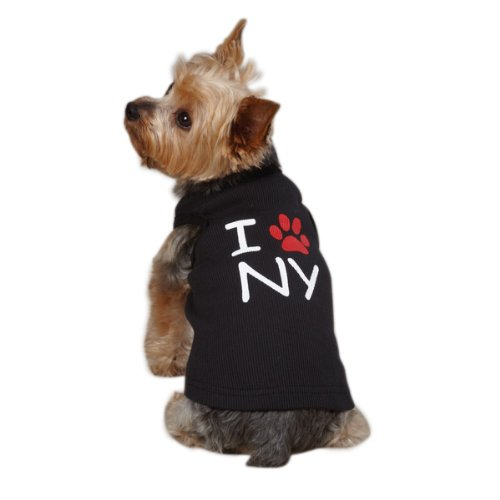 Casual Canine Cotton I Paw NY City Dog Tank, X-Large, 24-Inc