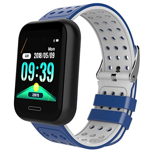 GXOK Smart Watch for Android iOS Sports Fitness Calorie Wristband Wear Smart Watch,Pedometer Watch for Kids Women and Men (Blue) ()
