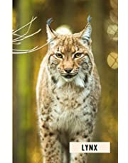 Lynx: Composition Notebook For Lynx Lovers , Lynx Lined Journal ,6x9 Inches , 110 Pages ,Lynx Diary