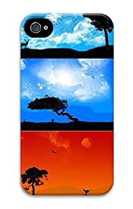 Custom Mystical Nature Custome 3D Hard Plastic Phone Case For iPhone 4