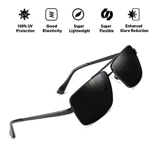 gran Retro protección de sol metal ATNKE lente con UV400 gafas HD marco de tamaño mujeres de polarized hombres gafas las de de Vintage Aviator para T1 reflectante Pqnqw4HC