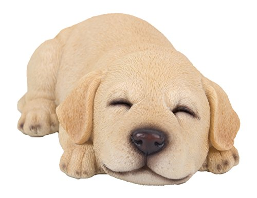 Sleeping Yellow Labrador Retriever Puppy Figurine for sale  Delivered anywhere in USA