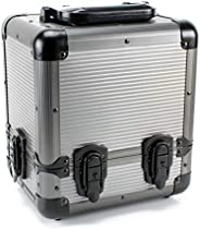 Versa Games 1000pc Deluxe Poker Chip Case Carrier in Gray Color - Reinforced, Strong, Sturdy Design