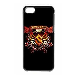 SABATON 13 de funda caja del teléfono celular 5c mejor cubierta del funda iPhone negro