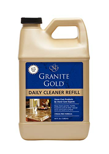 Granite Gold Daily Cleaner Refill - Streak-Free Granite Cleaner and Stone Cleaning Formula, Made In The USA - 64 Ounces (Table Tile Top Replacement)