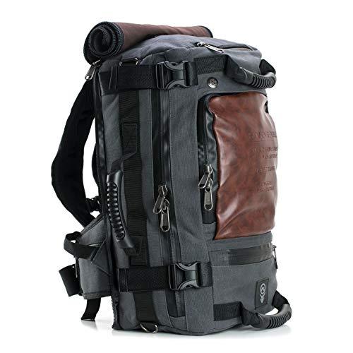 Drifter Canvas - SOVRN Republic Canvas Material Duffel Backpack 32L Sovrn HD Drifter, Charcoal