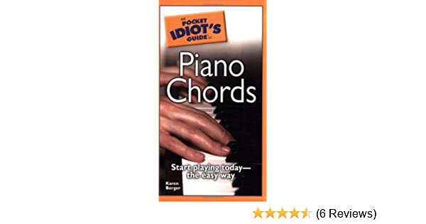 The Pocket Idiots Guide To Piano Chords Karen Berger