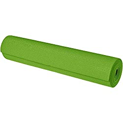 "AmazonBasics Yoga & Exercise Mat with Carrying Strap, 1/4"", Green"