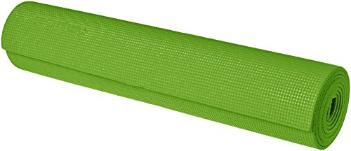 AmazonBasics Yoga & Exercise Mat with Carrying Strap, 1/4, Green