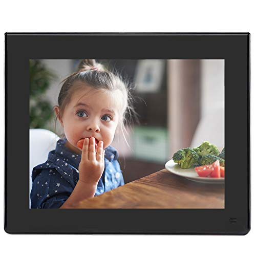 BSIMB 8 Inch Digital Photo Frame-Digital Picture Frame with 1024x768(4:3) Resolution LCD Display, Music Video Schedule Alarm Supported,with Motion Sensor and Remote Control(M03 Black)