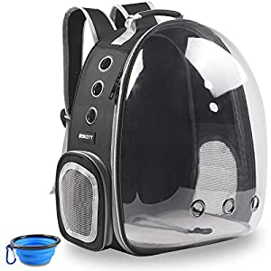 BEIKOTT Cat Backpack Carriers Bag, Dog Backpack, Pet Bubble Backpack for Small Cats Puppies Dogs Bunny, Airline-Approved…