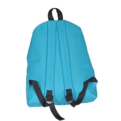 Shoulder Book Girls School Backpack Blue Rucksack Bag Canvas Bag Backpack Women Rcool w8TRqxHz