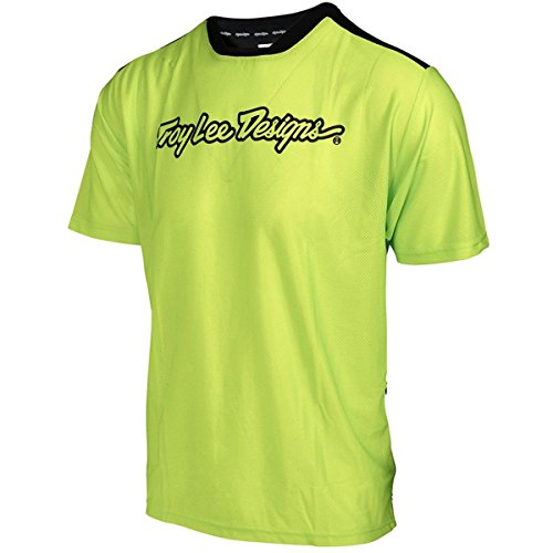 Troy Lee Designs Skyline Air Jersey - Short-Sleeve - Men's Flo Yellow, M by Troy Lee Designs