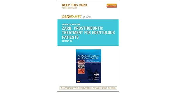 Prosthodontic Treatment for Edentulous Patients- Elsevier