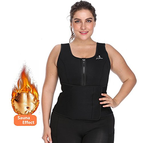 971ce02055d Joyshaper Sweat Neoprene Sauna Suit Tank Top Vest with Adjustable Shaper Waist  Trainer Belt for Women